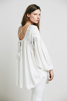 Free People Womens EMBELL STRAPPY BACK TUNIC