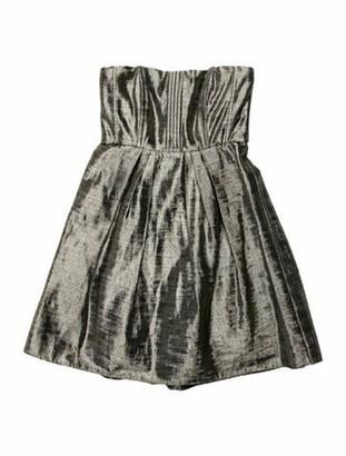 Alice + Olivia Strapless Mini Dress Gold