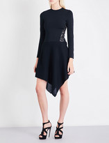 Alexandre Vauthier Lace-up stretch-knit dress