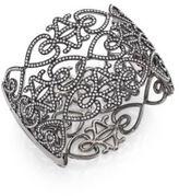 Adriana Orsini Statement Pave Crystal Gate Cuff Bracelet/Gunmetal-Tone