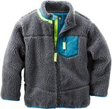 Osh Kosh Little Boys' Sherpa Active Jacket - Grey