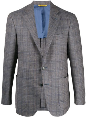Canali Checked Tailored Blazer