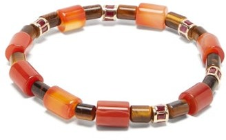 Luis Morais Tiger's Eye And Ruby Beaded Bracelet - Gold Multi