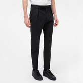 Paul Smith Men's Black Stretch-Wool Tapered Trousers