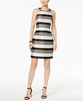 Jessica Simpson Striped Bow-Back A-line Dress