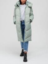 Thumbnail for your product : Very Longline Relaxed Padded Coat - Sage
