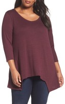Sejour Plus Size Women's V-Neck Tunic