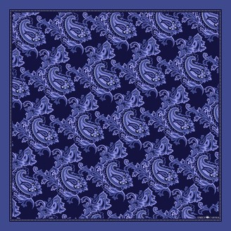 Emily Carter The Floral Paisley Pocket Square - Navy