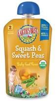 Earth's Best Organic 3.5 oz. Squash & Sweet Peas Baby Food Puree