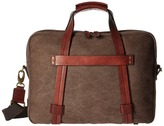 Bosca Washed Leather Collection - Zip Top Brief Briefcase Bags