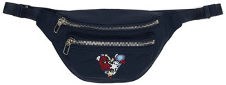 Kenzo Navy Limited Edition Valentines Day Mini Lucky Star Belt Bag