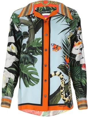 Dolce & Gabbana Animal Printed Shirt