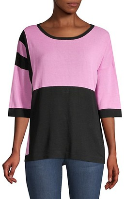 Beatrice. B Colorblock Sequin Zebra Knit Tee