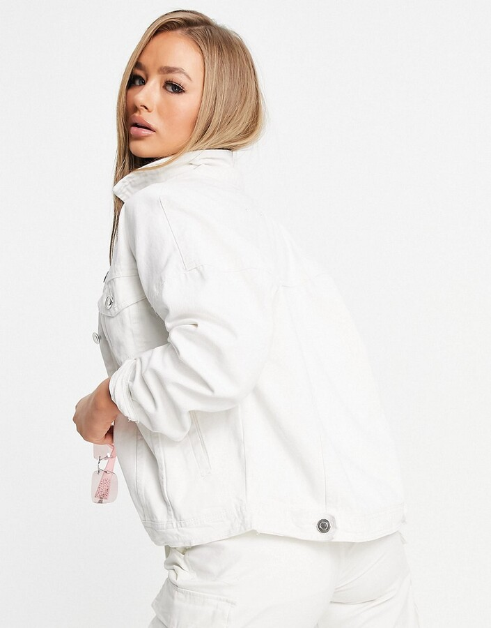 Thumbnail for your product : Brave Soul chas white denim jacket