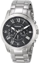 Fossil Men's FS4736 Grant Stainless Steel Bracelet Watch