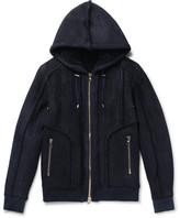 Balmain Shearling Bomber Jacket