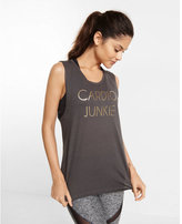 Express EXP core cardio junkie graphic muscle tank
