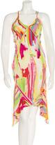 Saint Laurent Watercolor Print Sleeveless Dress