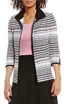 Ming Wang Convertible Collar Jacket