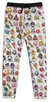 Terez Girl's Emoji-Print Reversible Sweatpants