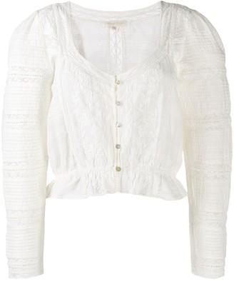 LoveShackFancy Sabrina blouse