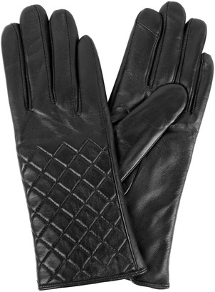 Karla Hanson Women's Quilted Leather Touch Screen Gloves
