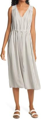 Nordstrom Signature Laurelhurst Stripe Linen Blend Dress