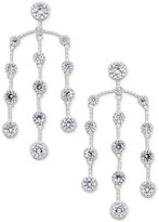 INC International Concepts Silver-Tone Multi-Crystal Chandelier Earrings, Created for Macy's