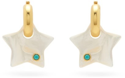 Lizzie Fortunato Jumelle Mother-of-pearl Gold-plated Earrings - Pearl
