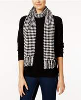Charter Club Houndstooth Chenille Woven Scarf, Created for Macy's