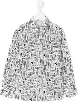 Dolce & Gabbana musical instrument print shirt - kids - Cotton/Spandex/Elastane - 12 yrs