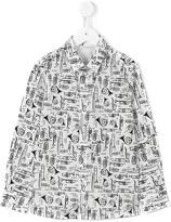 Dolce & Gabbana musical instrument print shirt - kids - Spandex/Elastane/Cotton - 10 yrs