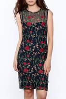 Mystic Navy Floral Mesh Dress