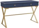 Linon Gold Finish 2-Drawer Desk