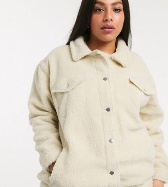 Brave Soul Plus hitomi long borg western jacket-Cream