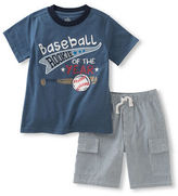 Kids Headquarters Baby Boys Little Boys Rookie of the Year Tee and Shorts Set