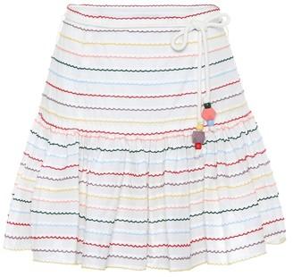 Zimmermann Zinnia striped cotton miniskirt