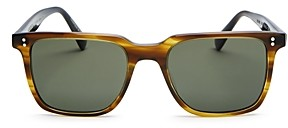Oliver Peoples Unisex Lachman Polarized Square Sunglasses, 50mm
