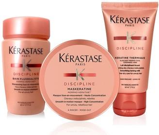 Kérastase Discipline Frizz Control Hair-Smoothing Travel Trio Set for Frizzy Hair