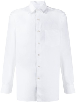 Canali Pointed-Collar Linen Shirt