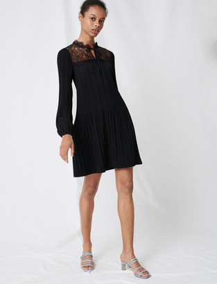 Maje Pleated lace dress