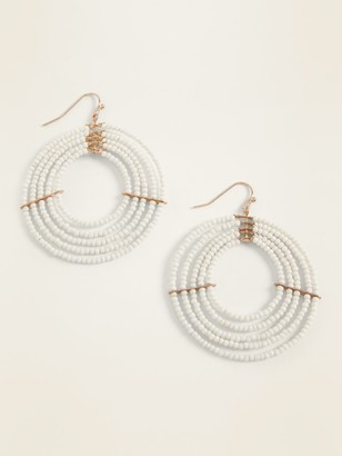 Old Navy Beaded Hoop Earrings for Women