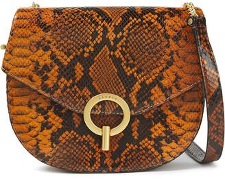 Sandro Pepita Snake-effect Leather Shoulder Bag