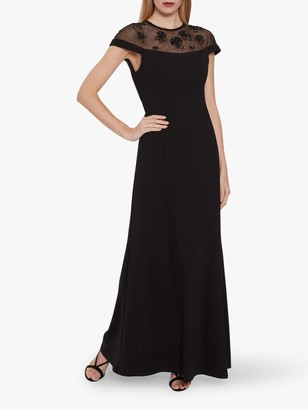 Gina Bacconi Isora Maxi Dress, Black