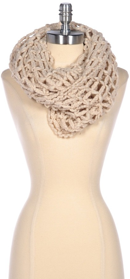 Look By M Loose Knit Infinity Scarf