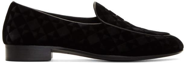 Giuseppe Zanotti Black Suit Cut 15 Loafers