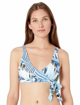 La Blanca Women's Faux Wrap Bra Bikini Swimsuit Top