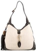 Gucci New Jackie Straw Shoulder Bag