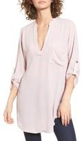 Lush Women's Perfect Roll Tab Sleeve Tunic