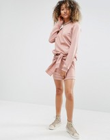 Daisy Street Sweat Mini Skirt With Tie Front Co-Ord
